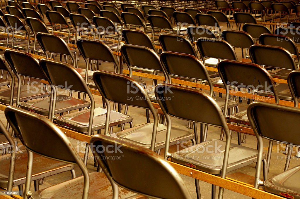 Metal chairs royalty-free stock photo