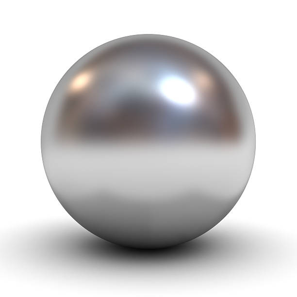 metal chrome sphere - ball stock photos and pictures