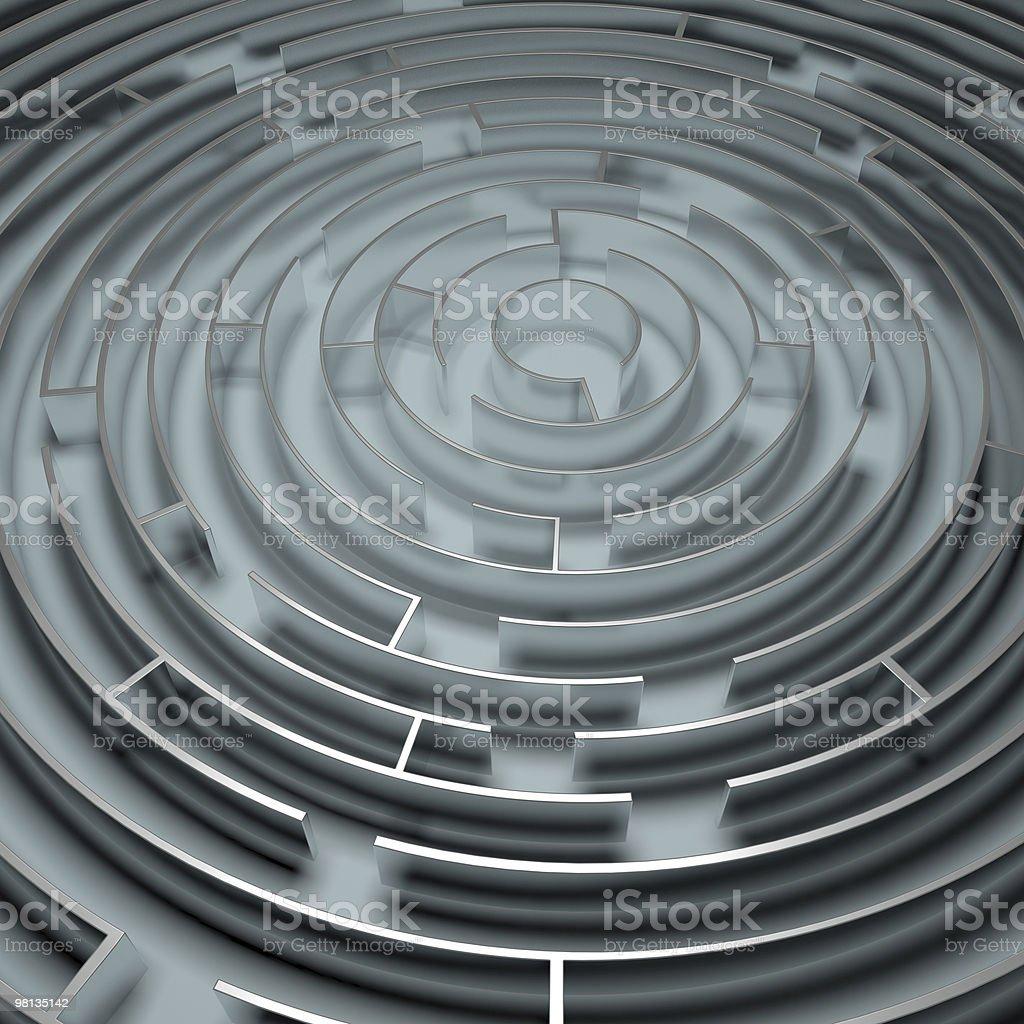 Metallo labirinto cerchio foto stock royalty-free