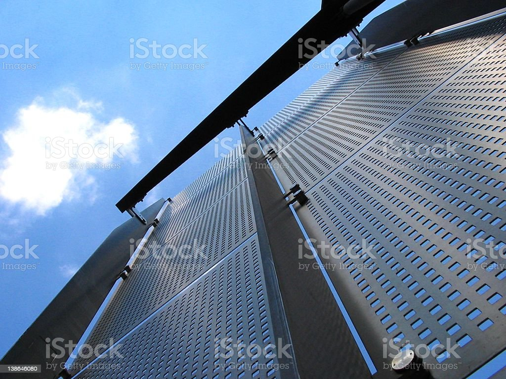 metal cladding... stock photo