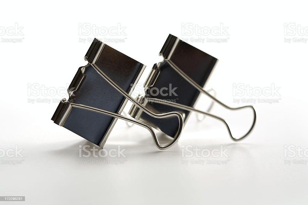 Metal Clips royalty-free stock photo