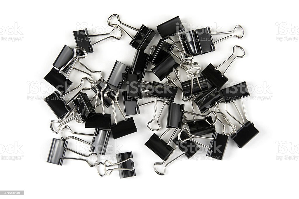 Metal Clips stock photo
