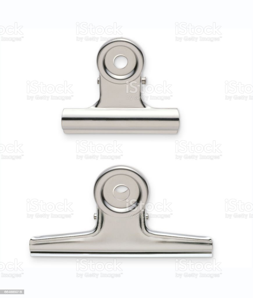 Metal clips stock photo
