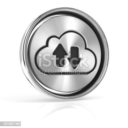 istock Metal cloud technology icon 181092166