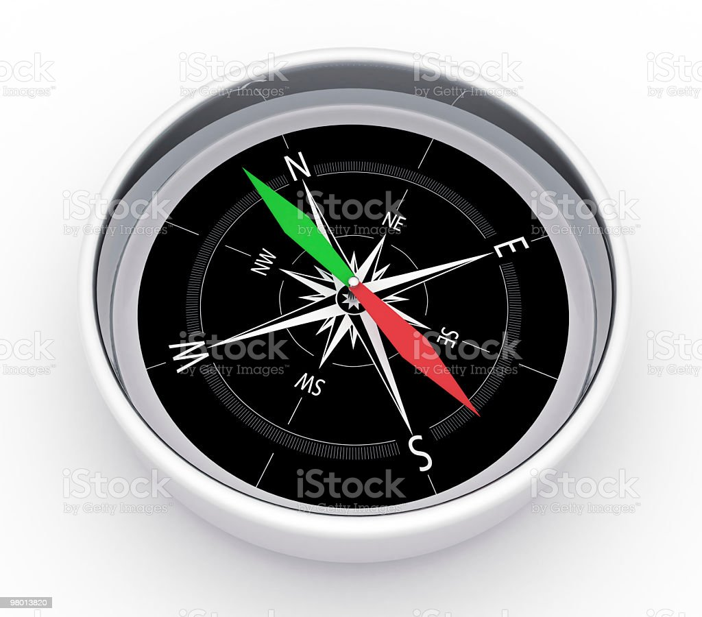 Metalic Compass royalty-free stock photo