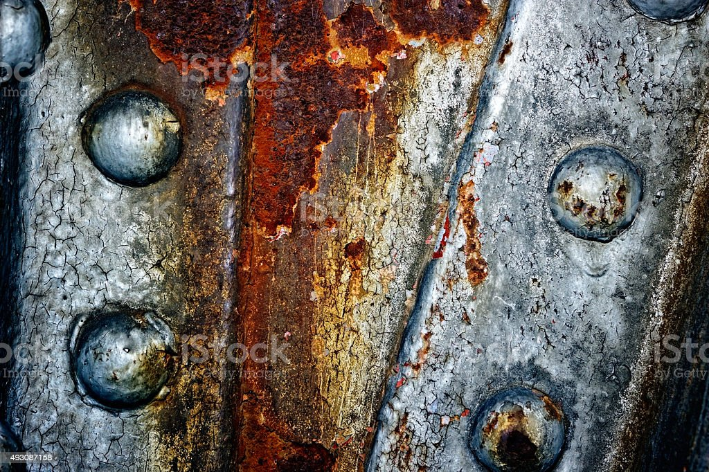 Metal construction detail - round headed bolt