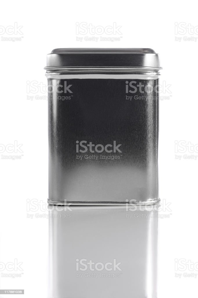 Metal container stock photo