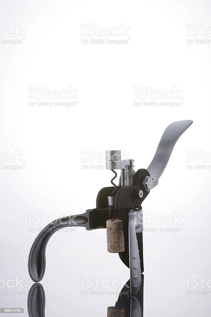 Metal Corkscrew royalty-free stock photo