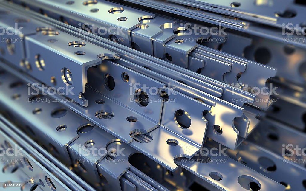 Metal corners stacked up ready for sale  royalty-free stock photo