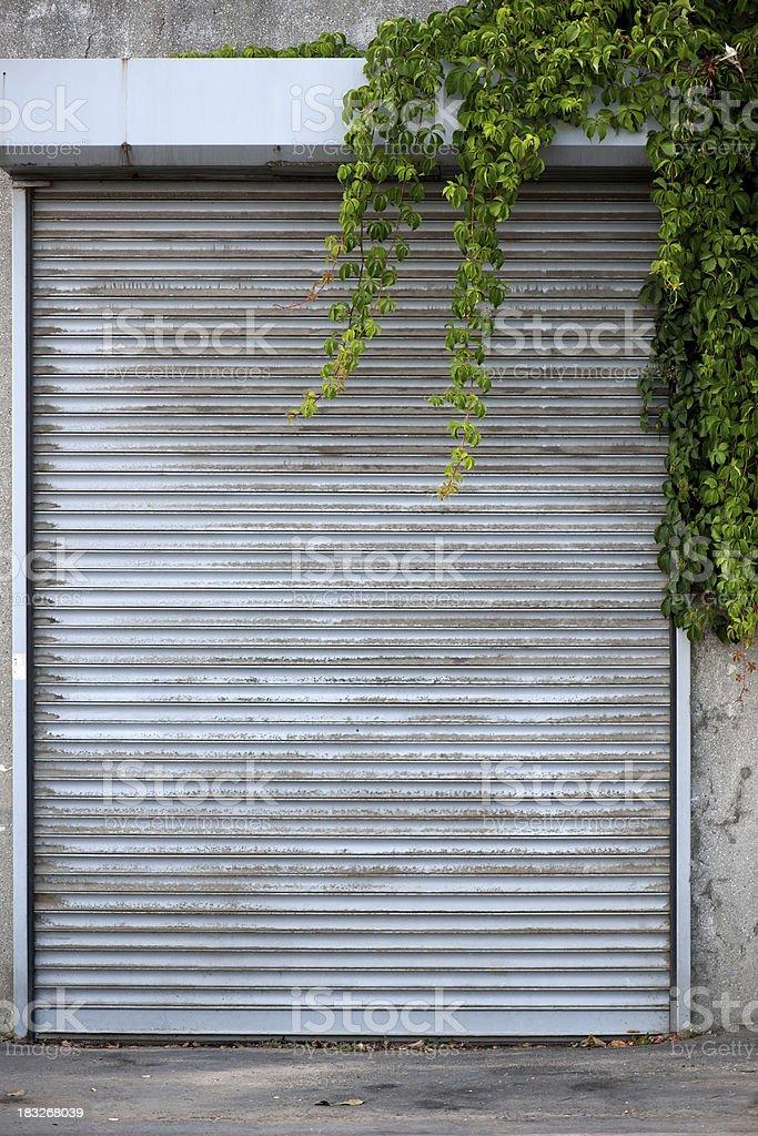 Metal corrugated door royalty-free stock photo