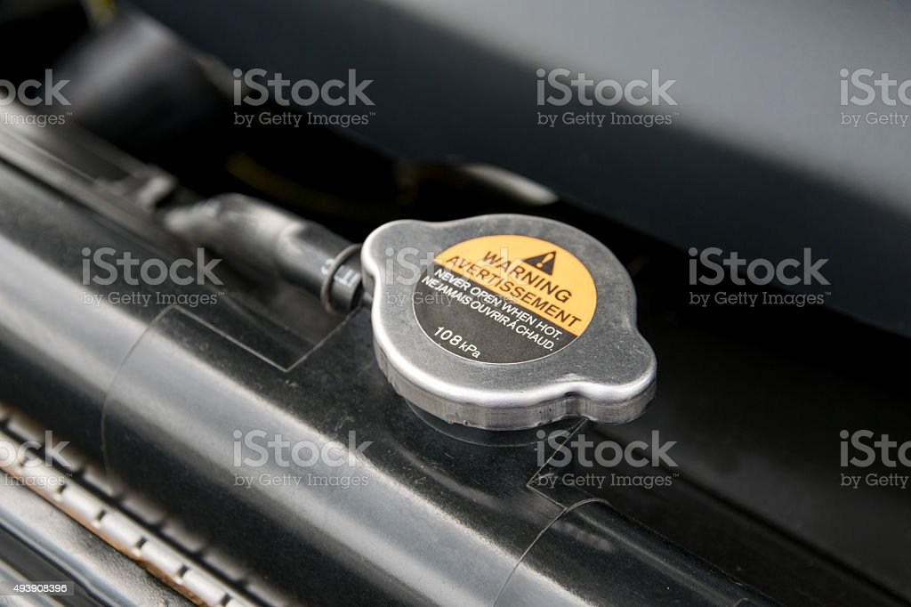Metal cover on an radiator for engine cooling royalty-free stock photo