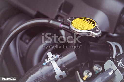 istock Metal cover on an radiator for engine cooling 932691252
