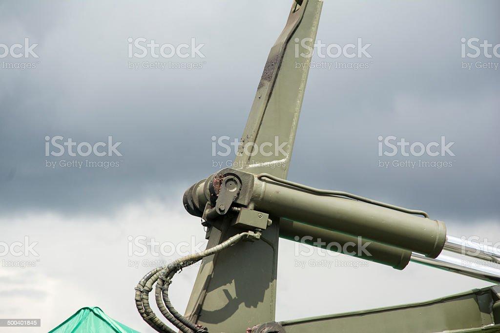 Metal Crane Arm stock photo