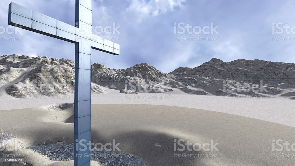 metal cross royalty-free stock photo