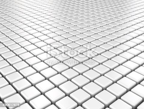 istock Metal cubes pattern background 490617678