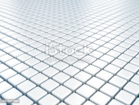 istock Metal cubes pattern background 492547994