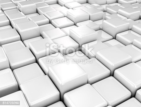 istock Metal cubes pattern background 514723250