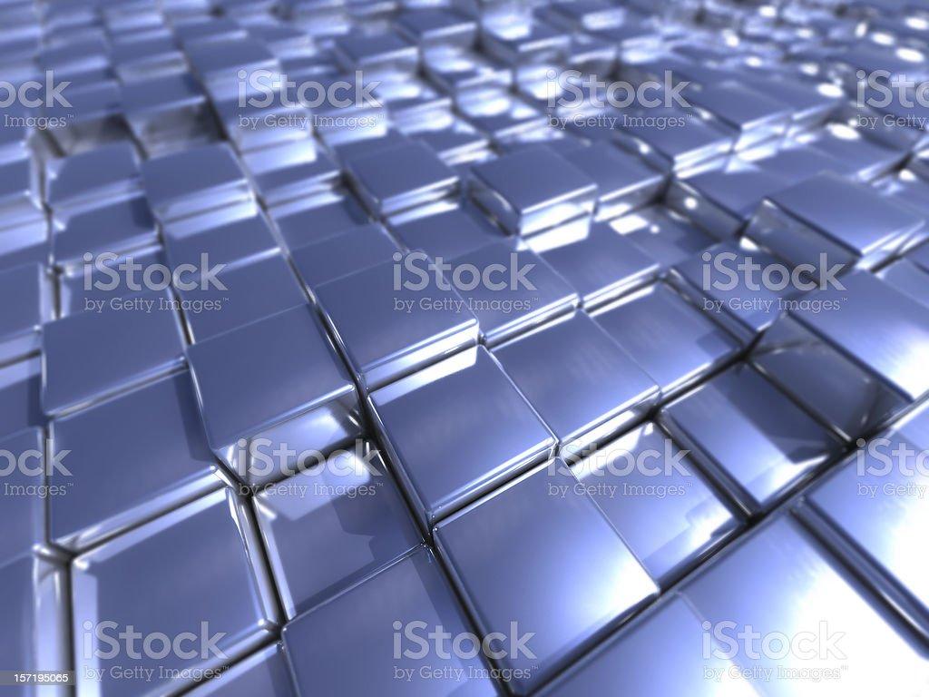 Metal Cubes royalty-free stock photo