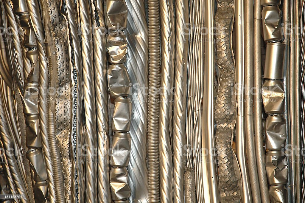Metal curtain royalty-free stock photo