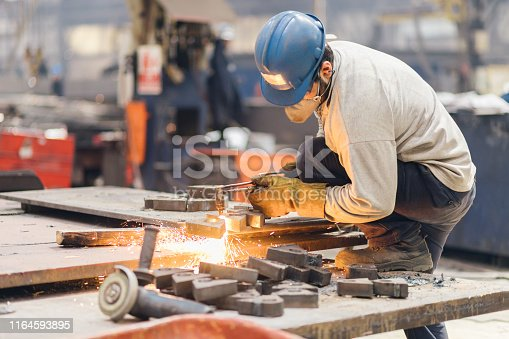 Metal cutter, steel cutting with acetylene torch
