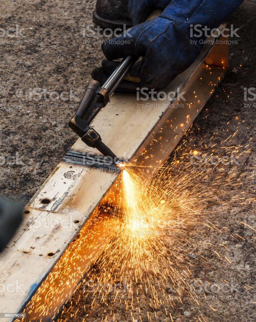 Metal cutting gas royalty-free stock photo