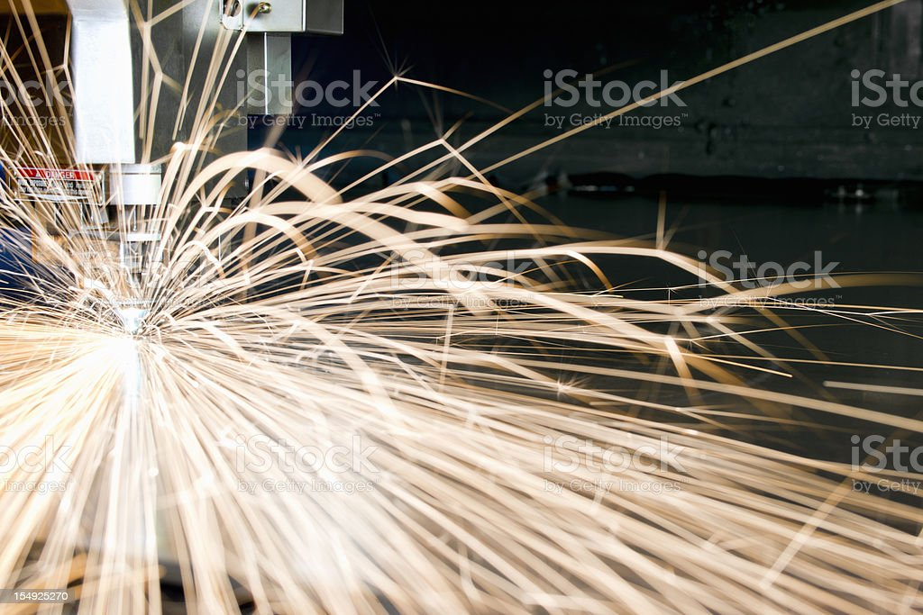 CNC metal cutting industrial laser tool royalty-free stock photo