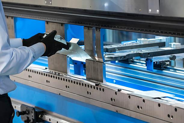 Metal cutting machine stock photo