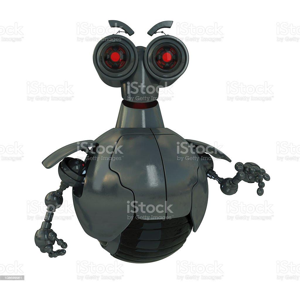 Metal cyborg stock photo