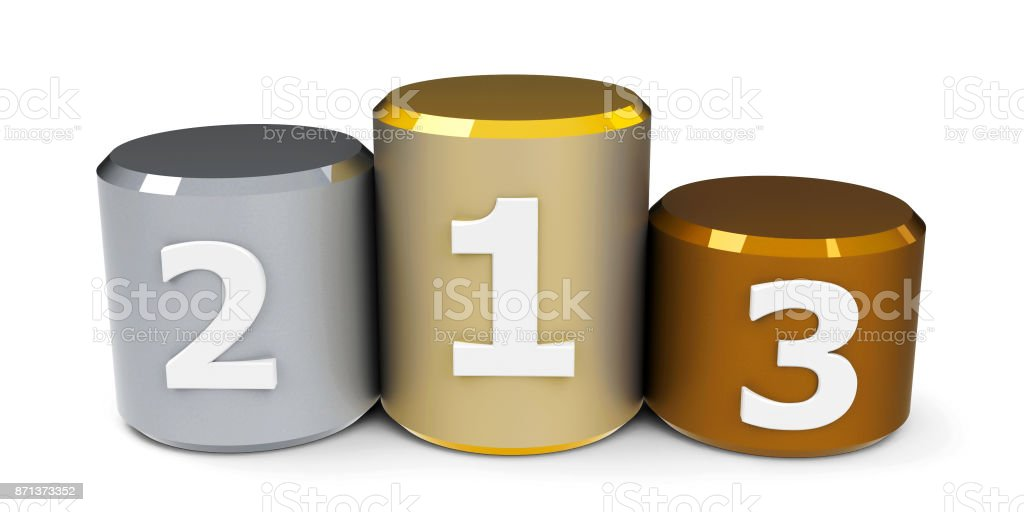 Metal cylinder podium #2 stock photo