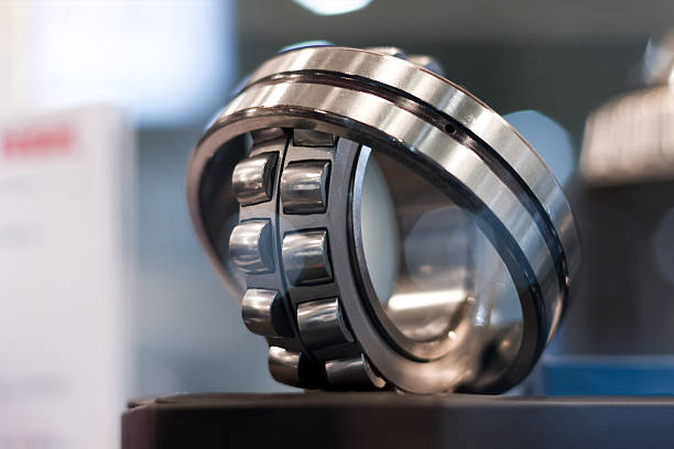Metal cylindrical bearing stock photo
