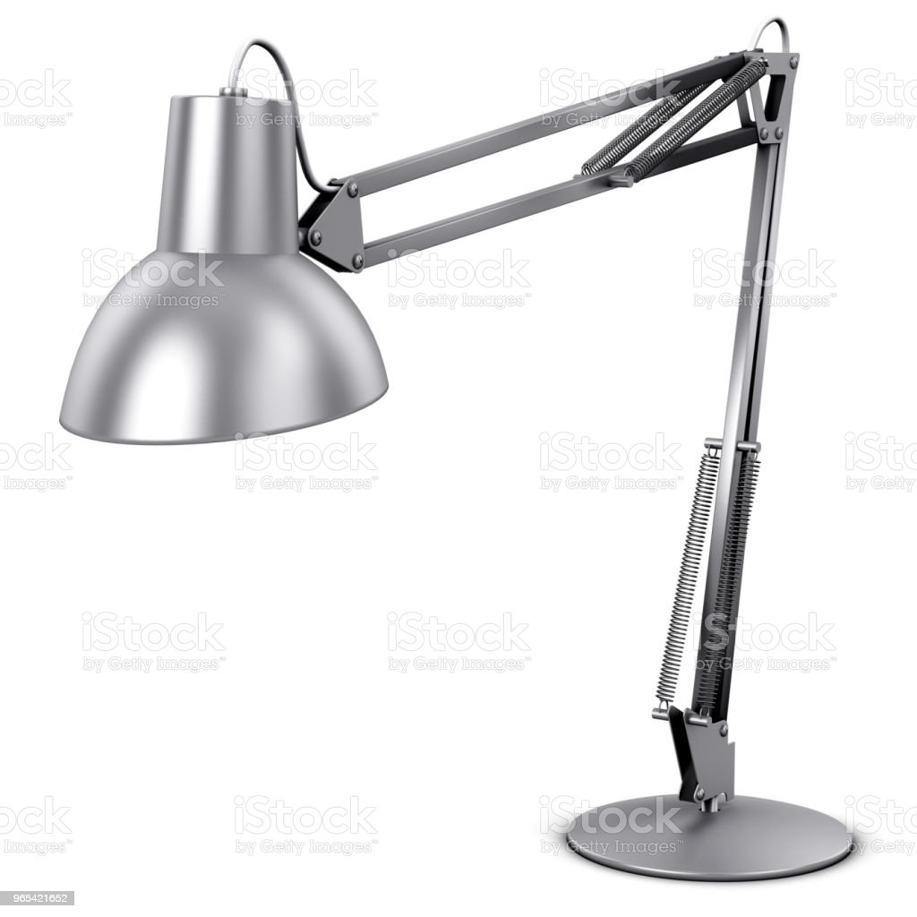 Metal desk or table lamp royalty-free stock photo