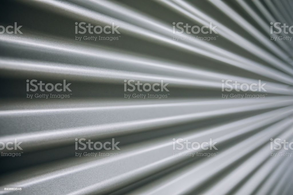 Metal. Details of a metallic wall in a modern commercial and industrial building renovated, revamped and refurbished. stock photo