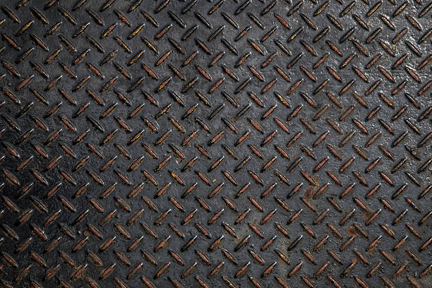metal diamond plate abstract industrial background - diamond plate background stock photos and pictures