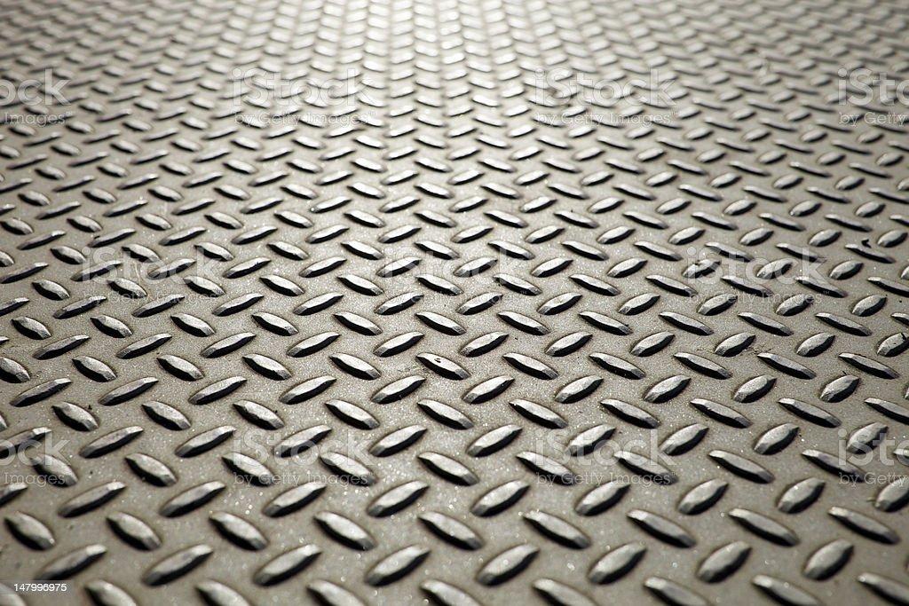 Metal Diamond Plate flooring royalty-free stock photo