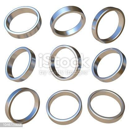 istock Metal dimensional circle 3D 1046725668