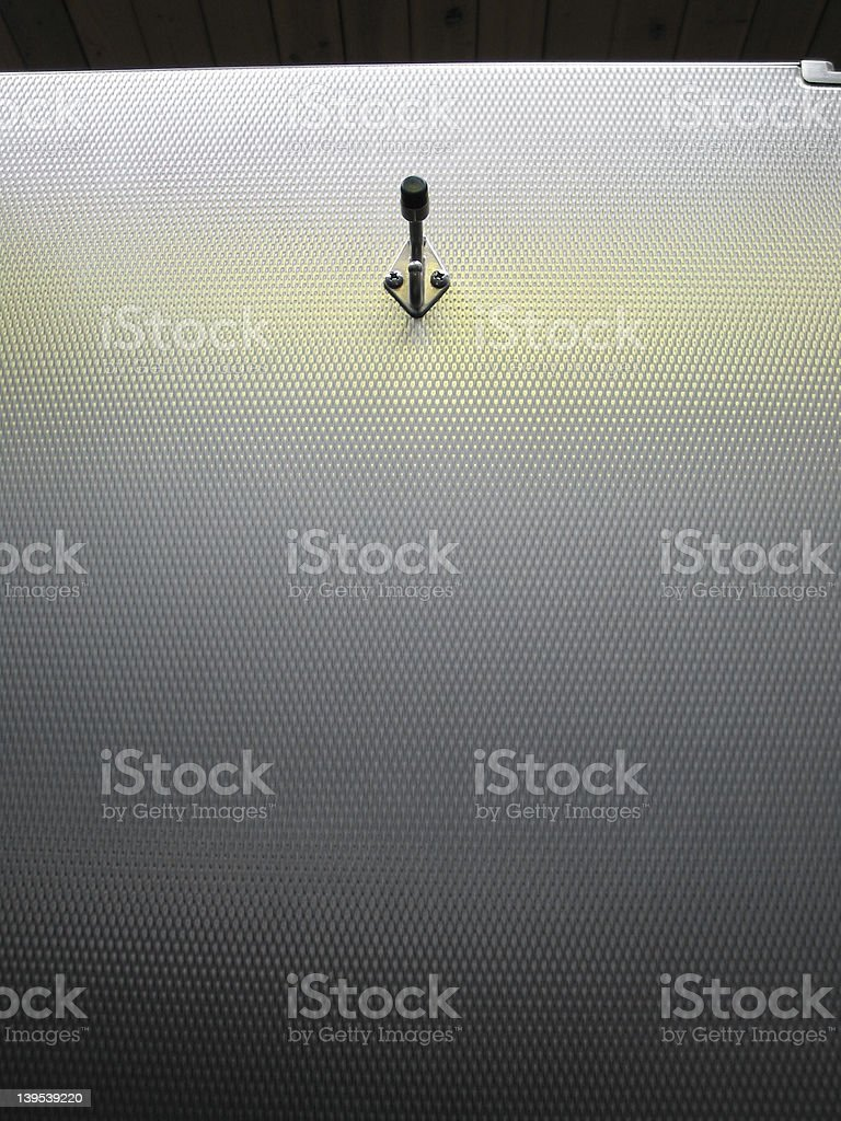 Metal Door and Hook stock photo