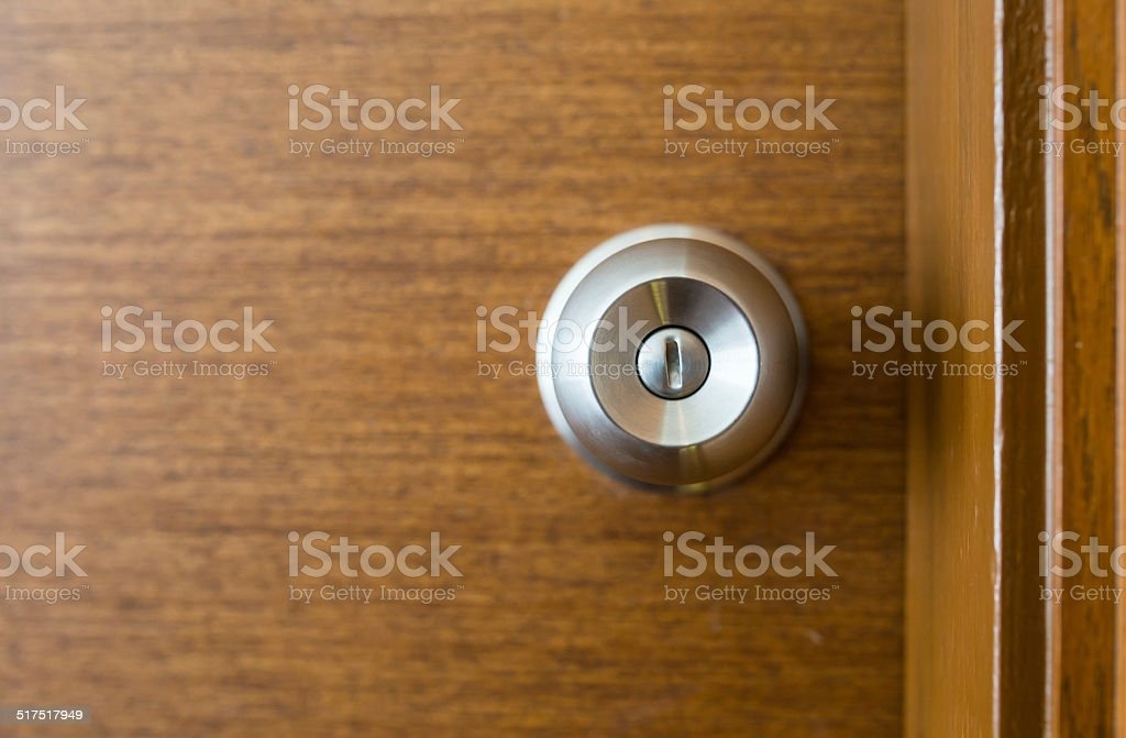Metal Door Knob stock photo