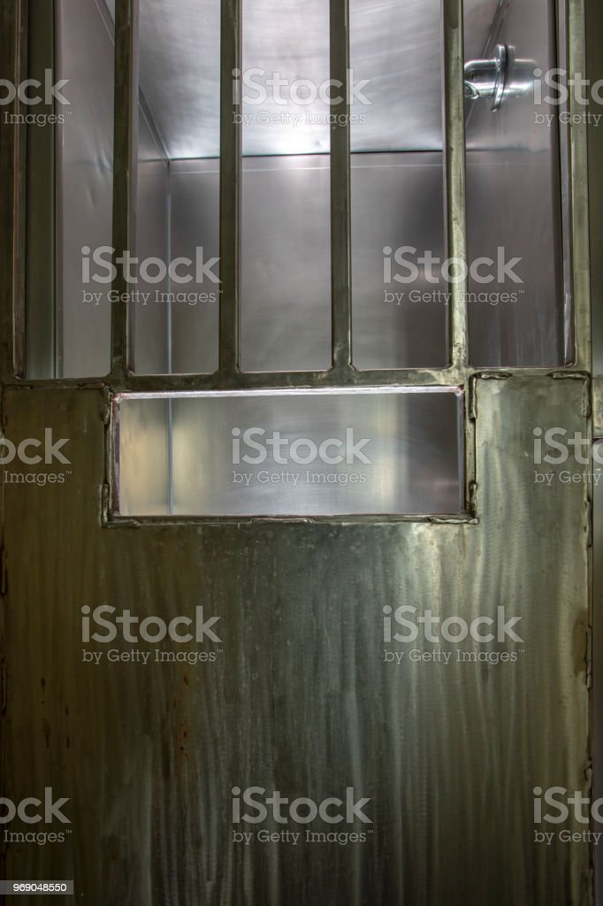 Metal Door On Shower Stall In Prison Stock Photo & More Pictures of ...