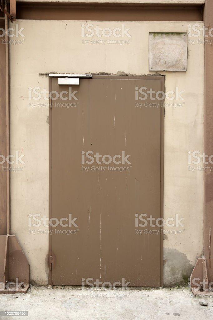Metal door texture stock photo