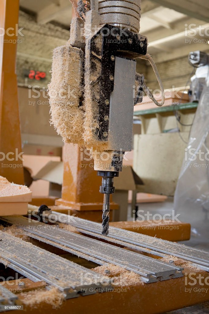 Metal drill in plastic garbage royalty-free stock photo