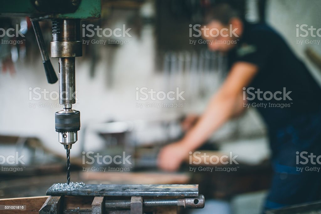 metal drill stock photo