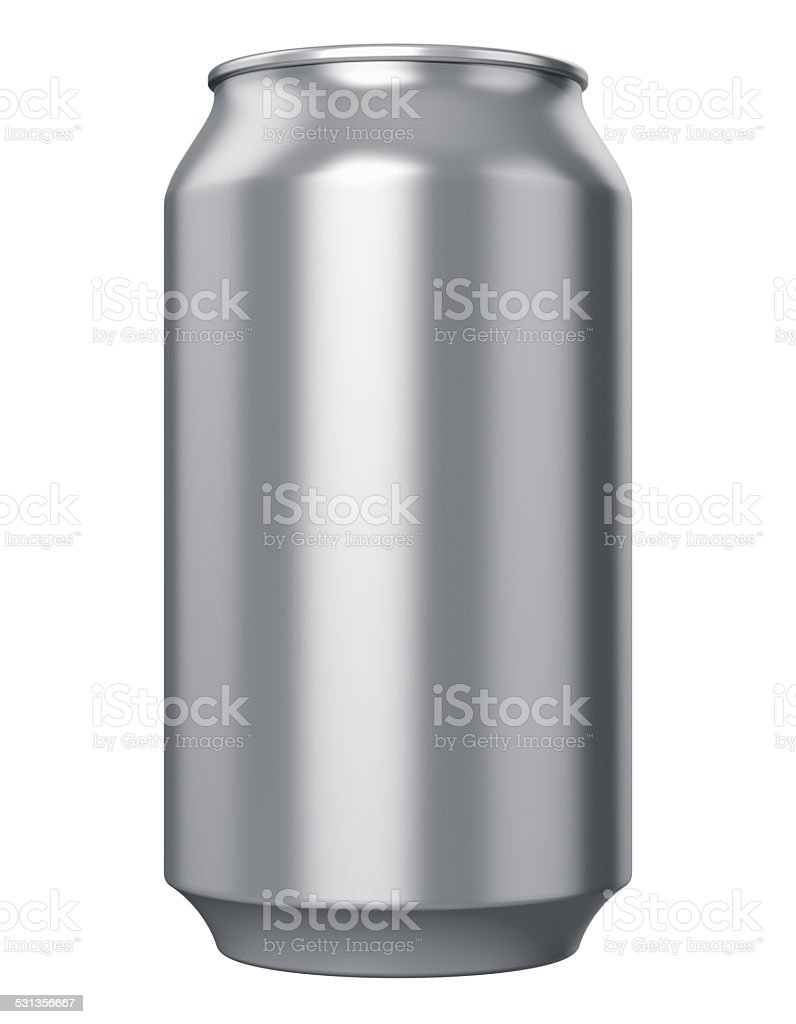 Metal drink can stock photo