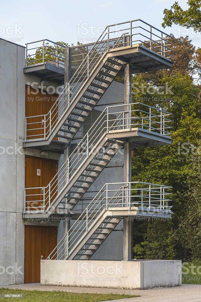 Metal Emergency Escape Stairs royalty-free stock photo