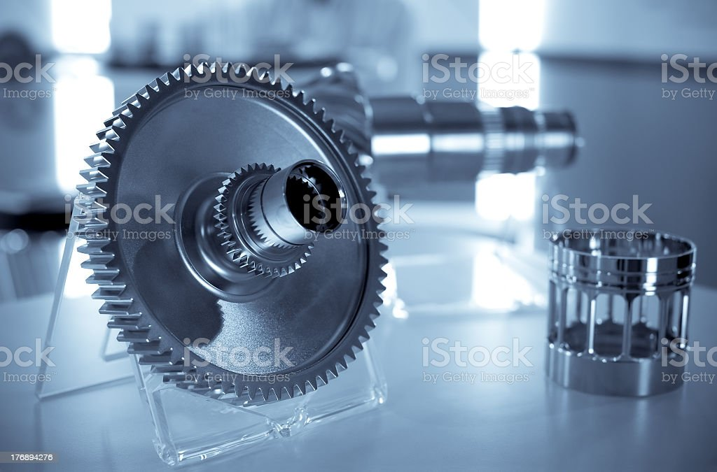 A metal engineered for precision stock photo