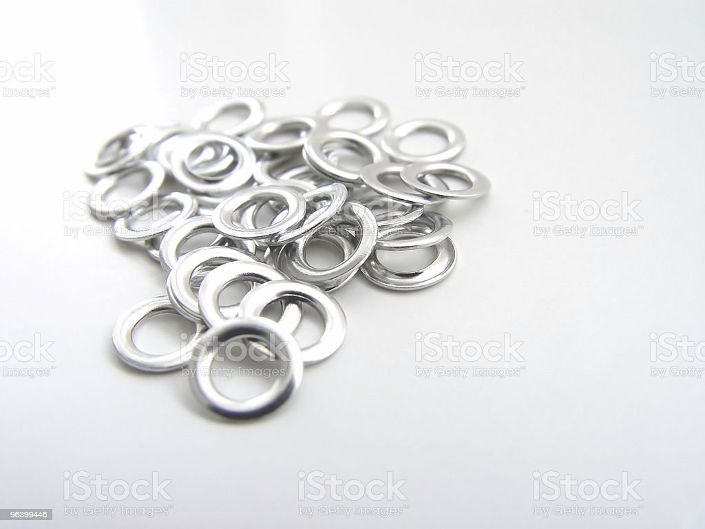 Metal Eyelet Rings - Royalty-free Abstract Stock Photo