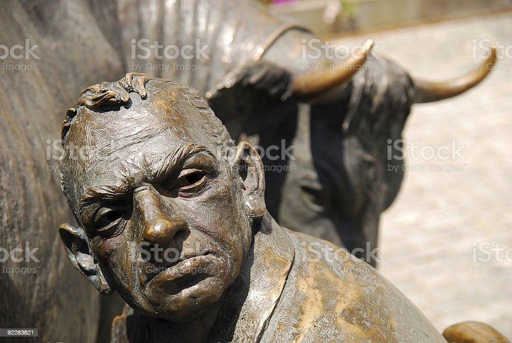 metal face stock photo