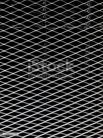 istock metal fence detail 854450818