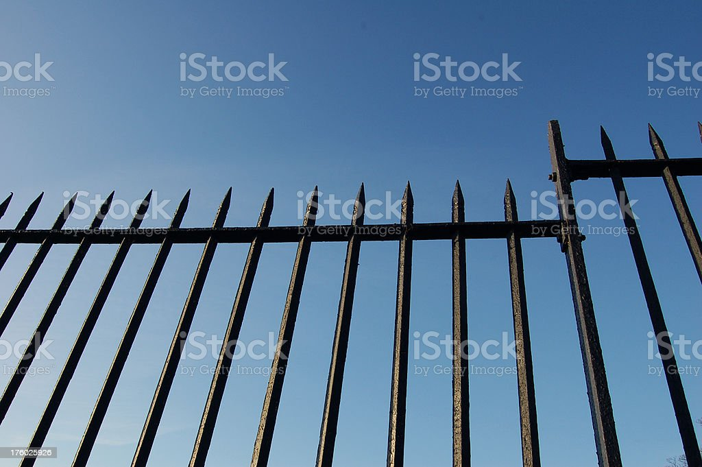 Metal Fence royalty-free stock photo