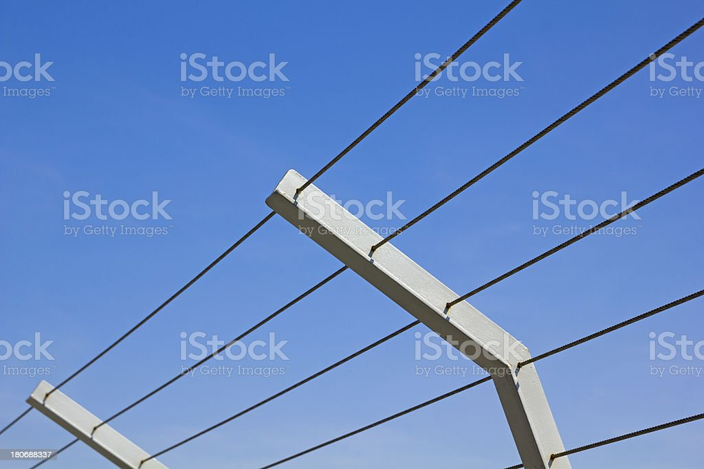 Metal fence. royalty-free stock photo