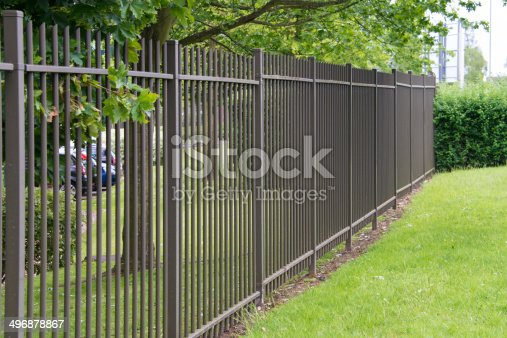 Metal industrial security fencing